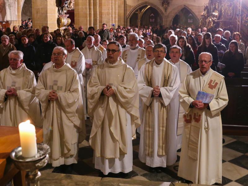 Slika 1: Duhovniki - med njimi absolventi Slovenske gimnazije, © Michael Stern