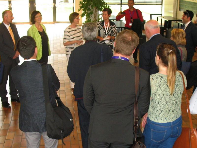 Slika 4: Delegacija OVSE z ravnateljico Zalko Kuchling