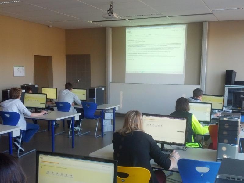 Slika 1: V novi informatični učilnici