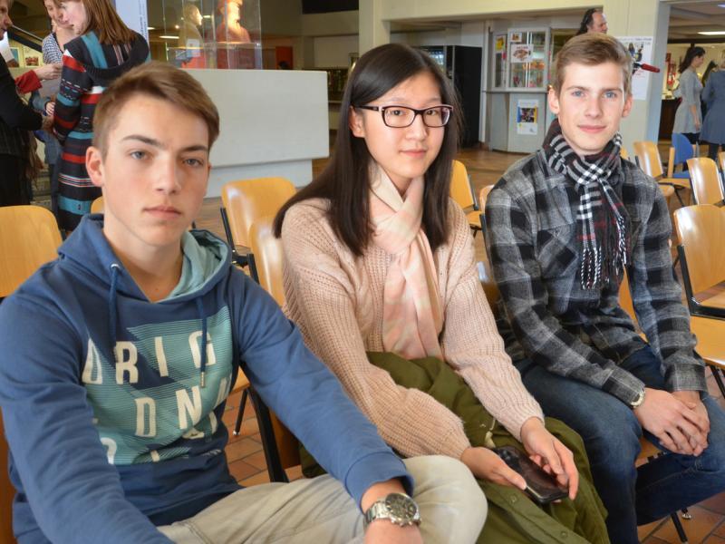 Slika 8: Tekmovalci Slovenske gimnazije: Luka, Lulu in Matej iz 6.b razreda, © Sebastjan Trampusch