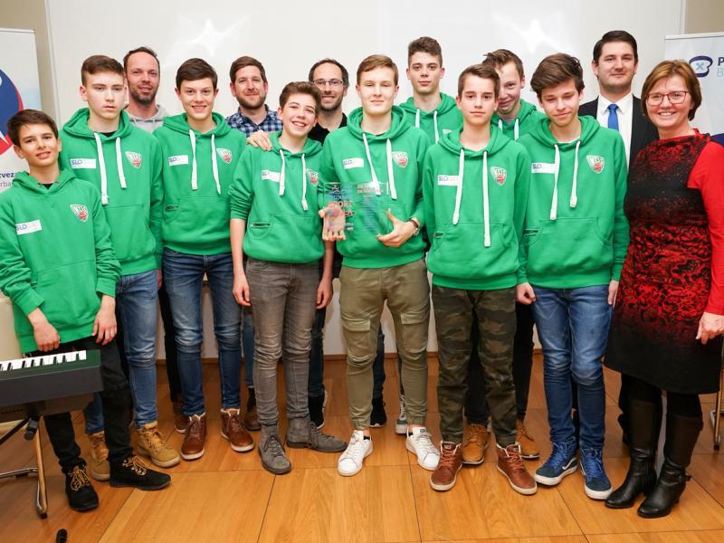 Slika 4: Košarkaška ekipa Slovenske gimnazije, © Sebastian Trampusch