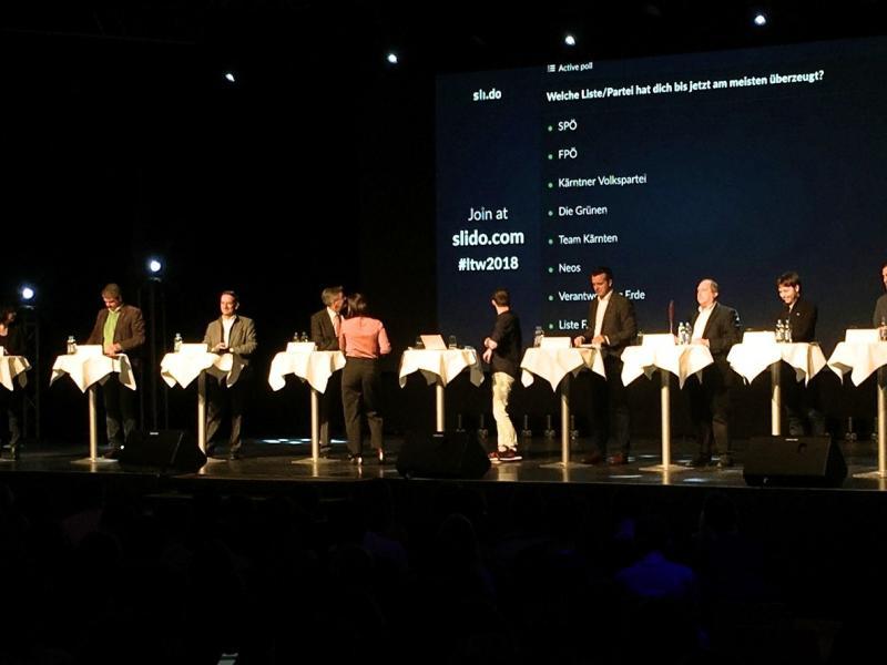 Slika 1: Glavni kandidati na odru, © Theresa Zdouc