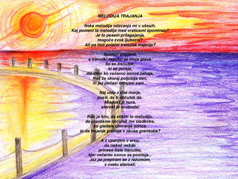 Slika 3: Pesem Melodija trajanja, © Luka Podlipnik