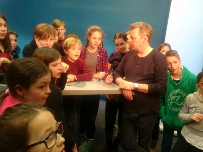 Bild 2: Besuch des ORF, © Julia Schuster-Smrečnik