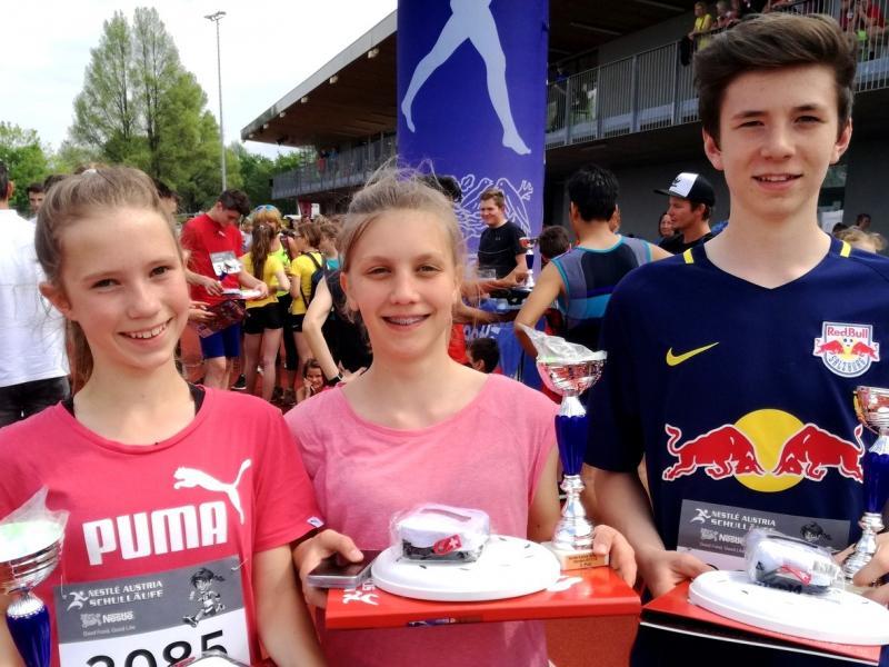 Slika 3: Anja, Sara in Niko, © Magdalena Kulnik