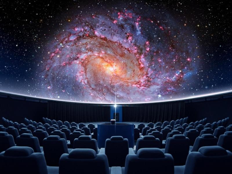 Slika 1: Planetarij v Celovcu, https://www.delo.si/novice/svet/popotovanje-po-vesolju-v-slovenskem-jeziku-106919.html?fbclid=IwAR2x