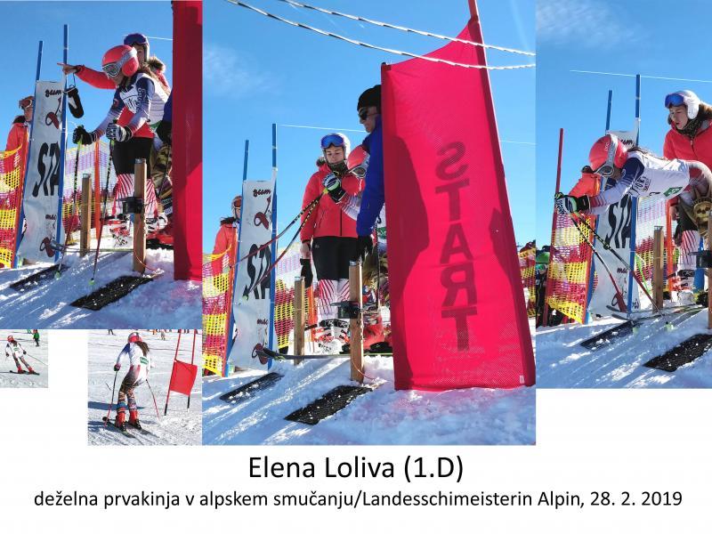 Bild 1: Elena Loliva - Landesschimeisterin Alpin 2019