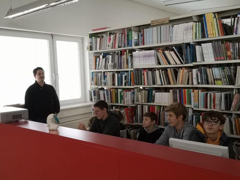 Slika 2: Predstavitev knjižničarskega sistema COBISS, ©Julia Schuster-Smrečnik
