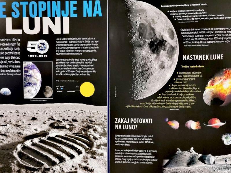 Slika 1: Prve stopinje na Luni, ©Luka Podlipnik