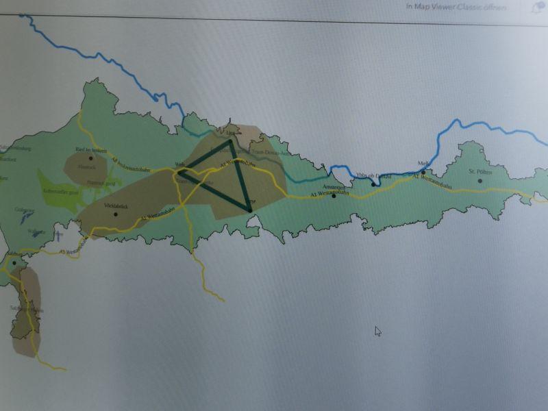 Slika 3: Predalpski svet in industrijska območja - v nastajanju