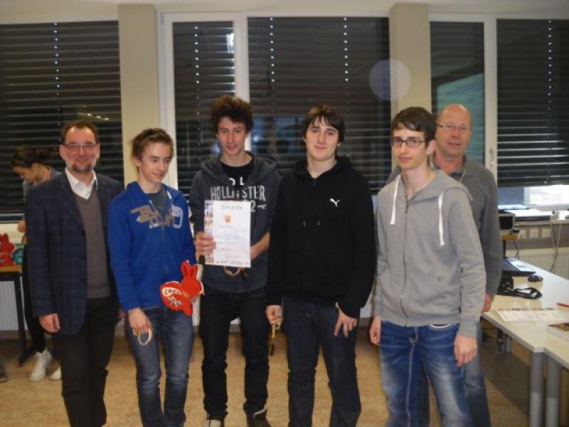 Bild 2: Team Europagymnasium 1 - Landesmeister im Schulschach OST