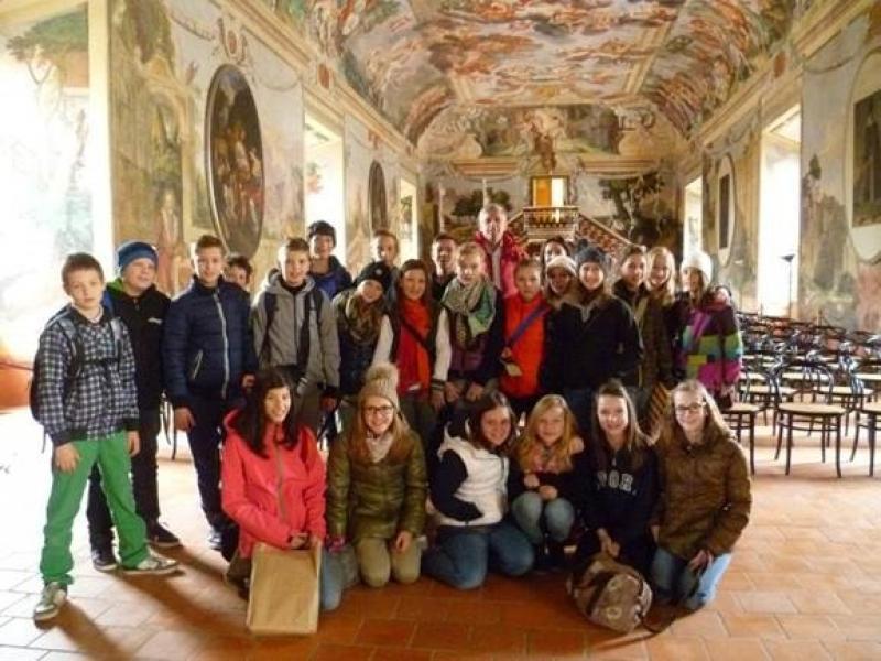 Bild 2: Im Rittersaal der Burg Brežice