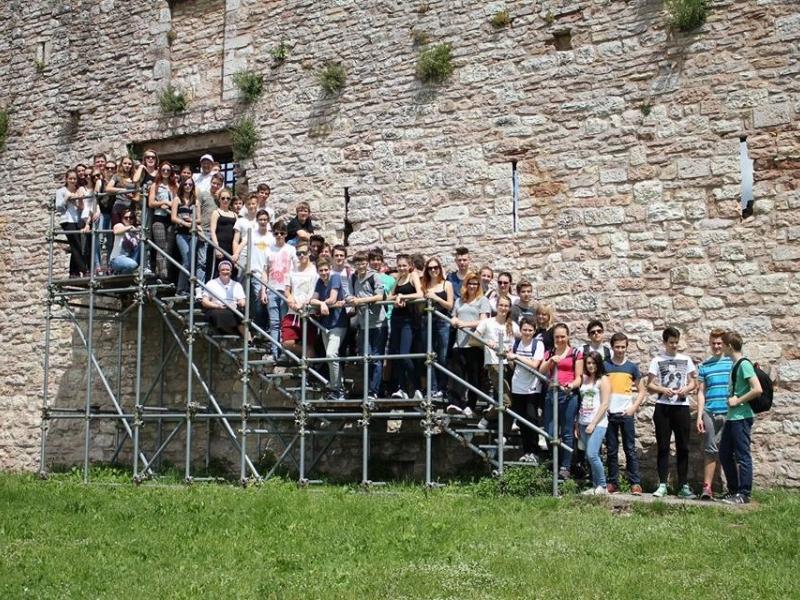 Slika 1: 5.AB v Assisiju