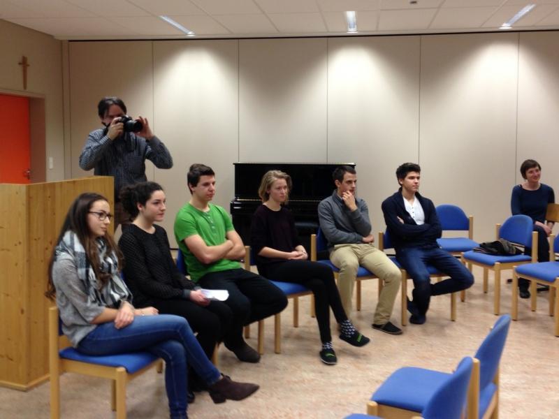 Slika 1: Šolski govorni natečaj - kandidatke in kandidati