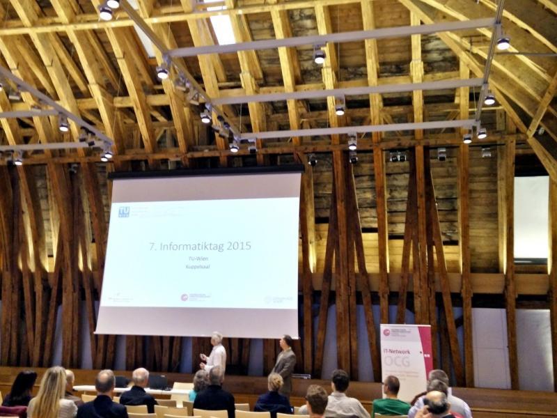 Slika 2: Dvorana v kupoli Tehniške univerze na Dunaju, © Niko Ottowitz