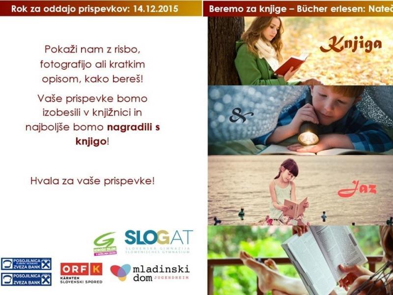 """Slika 1: Natečaj v sklopu projekta """"Beremo za knjige"""", © Tatjana Koncilia"""