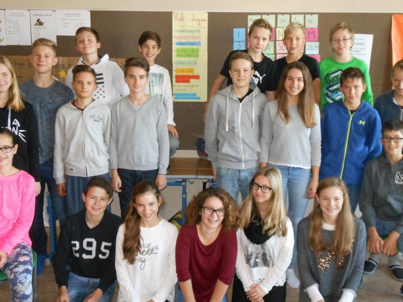 Slika 2: Skupinska slika 3.a-razreda pri projektu, © Angelika Ogris