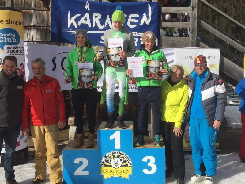 Slika 2: Maks Žagar - Koroški prvak v alpskem smučanju 2016, © Lojze Dolinar