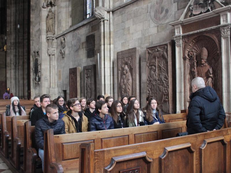 Slika 2: Predavanje dr. Sauerja v stolnici, © Terezija Krautzer