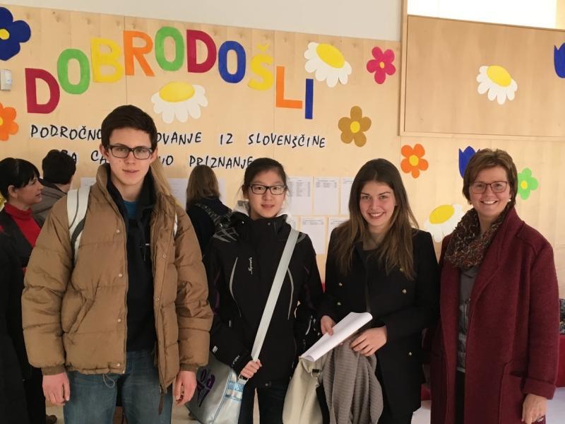 Bild 2: Die Teilnehmer des Wettbewerbes auf Regionalebenen in Ravne na Koroškem, © Melita Račev