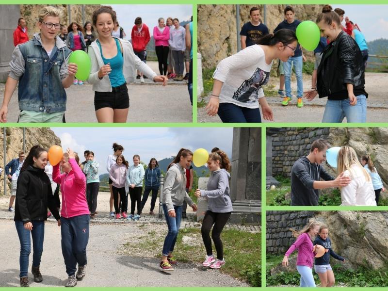 Bild 3: Staffellauf mit Ballonen, © Dina Pintarič
